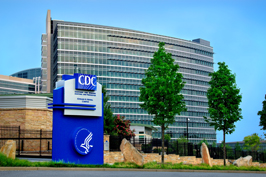 A photo of CDC headquarters.