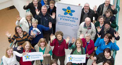 "A group of volunteers trained as ""dementia friends""."
