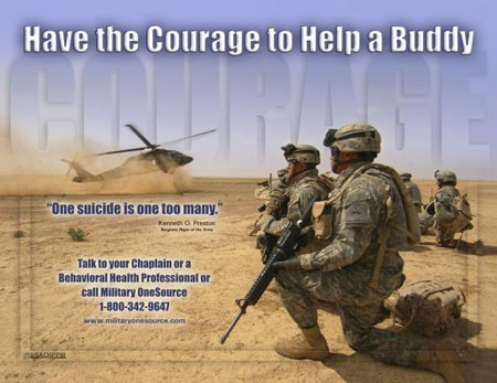 poster: Have the Courage to Help a Buddy