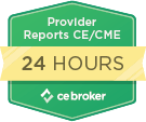 CE Broker 24 Hour Reporting Badge