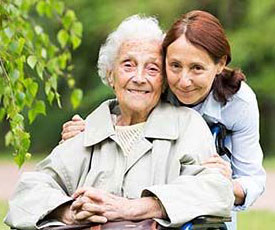 Photo: Daughter Providing Care for her Aging Mother