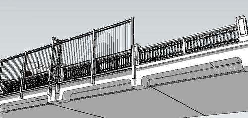 drawing of Aurora Bridge fence suicide barrier in Seattle