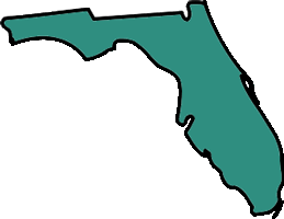 Florida map shape