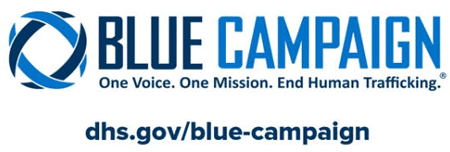 The Blue Campaign logo.