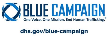The Blue Campaign logo.