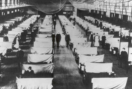 Influenza Ward During 1918 Epidemic