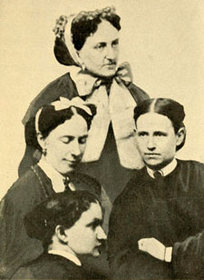 An 1863 photograph of 4 nurses at the Armory Square Hospital.