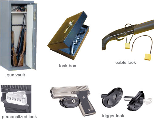 photo of firearm lock devices