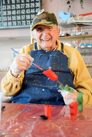 Image: man enjoying familiar activity