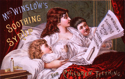 Soothing Syrup Ad from 1886 Calendar
