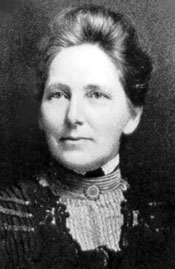 A photograph of Sophia Palmer (1853–1920) shown here in 1900.