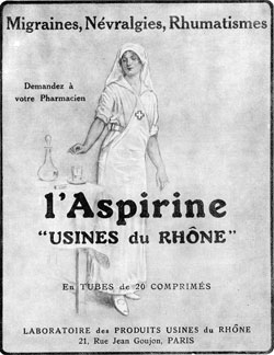 A 1923 advertisement for aspirin.