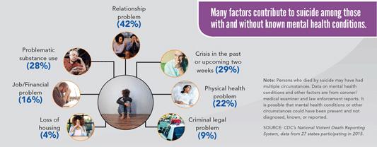 image: suicide factors infographic