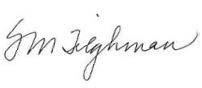 Signature of Shirley M. Tilghman, Ph.D.