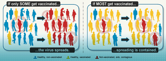 Illustration: How High Vaccination Rates Protect a Community